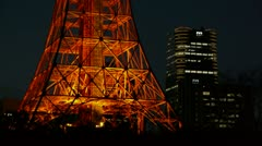 Tokyo Tower and Roppongi hills (Mori Tower) - HD Stock Footage