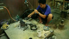Stock Video Footage of Burma Silver Makers 4
