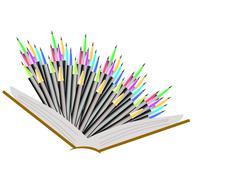 pencils - stock illustration