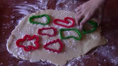 Removing Cookie Cutters Stock Footage