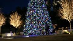 Stock Video Footage of Christmastime in the city
