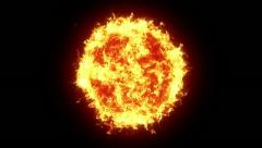 Fire ball - stock footage