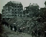 Stock Video Footage of WW2 Color Footage - escaping survivors in berlin 1945