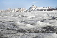 Landscape of the Arctic: ice, fjord, glacier Stock Photos