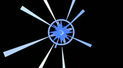 Abstract Rays. Blue Stock Footage