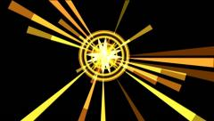 Abstract Rays. Yellow Stock Footage