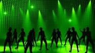 Disco Stage Dancers 15 Stock Footage