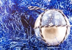 Handmade christmas balls Stock Photos