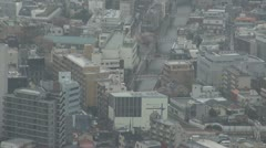 Aerial view of Tokyo's architecture by day, Japan - stock footage