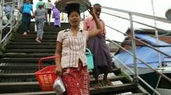 Burma Street 13 - stock footage