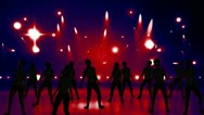 Disco Stage Dancers 21 Stock Footage