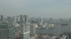 Aerial view of Tokyo by day, Japan - stock footage