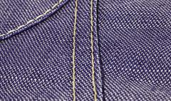 Jeans textile with close view on seams Stock Photos