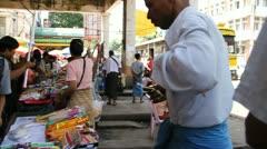 Burma Street 9 - stock footage