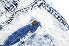 jeans pocket with metal rivet - stock photo
