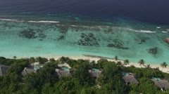 Close aerial island resort Stock Footage
