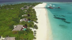 Aerial luxury island resort Stock Footage
