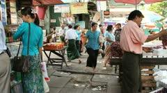 Stock Video Footage of Burma Street 5