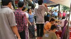 Burma Street 3 Stock Footage