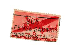 Us postage airmail  stamp Stock Photos