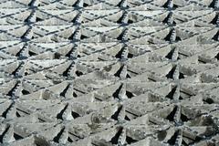 metal bridge grating - stock photo