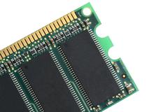 Random access memory chip close up Stock Photos