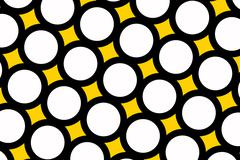 Yellow polka dots background Stock Illustration