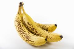 Three Very Ripe Bananas Stock Photos