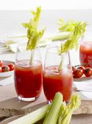Bloody Mary with celery Stock Photos