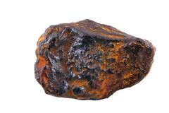 Isolated iron meteorite macro Stock Photos
