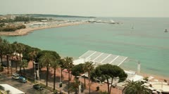 Pan over the riviera of Cannes - stock footage