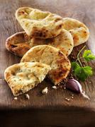 Stock Photo of Spicy pita bread
