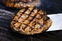 Grilled burger Stock Photos