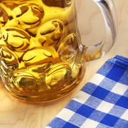 A litre of beer (close-up) Stock Photos