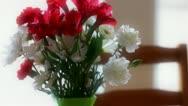 A flower bouquet tilting shot Stock Footage