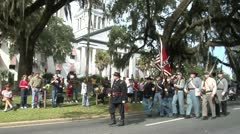 VETERANS DAY PARADE, AMERICAN CIVIL WAR REENACTORS-1 - stock footage