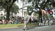 Stock Video Footage of American Civil War, Confederate reenactors march in Veterans Day Parade