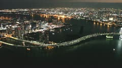 Tokyo aerial shot in the night - stock footage
