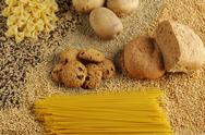 Stock Photo of Still life with foods rich in carbohydrates