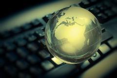 internet global communication  - stock photo