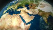 Earth Zoom Middle East Stock Footage