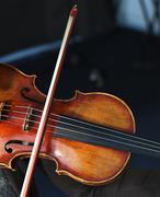 Violin in studio - stock photo