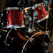 Stock Photo of Recording drum set