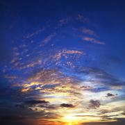 spectacular sunset sky in high resolution. square composition. - stock photo
