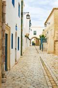 Street in tunisia Stock Photos