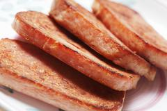 Stock Photo of Slices of Pan Fried Spam