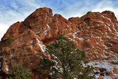 Snowy Red Rocks I Stock Photos