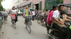 Stock Video Footage of Mandalay Traffic 4