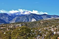 Snowy Pikes Peak II - stock photo