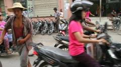 Mandalay Traffic 2 - stock footage